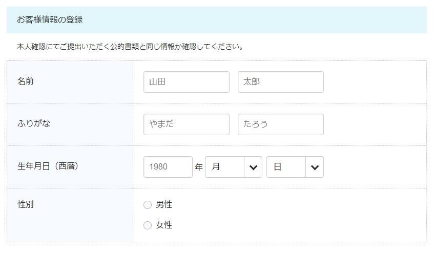 BIGLOBEモバイル新規契約申し込み12
